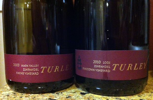 2003 & 2010 Turley Zinfandel tasting