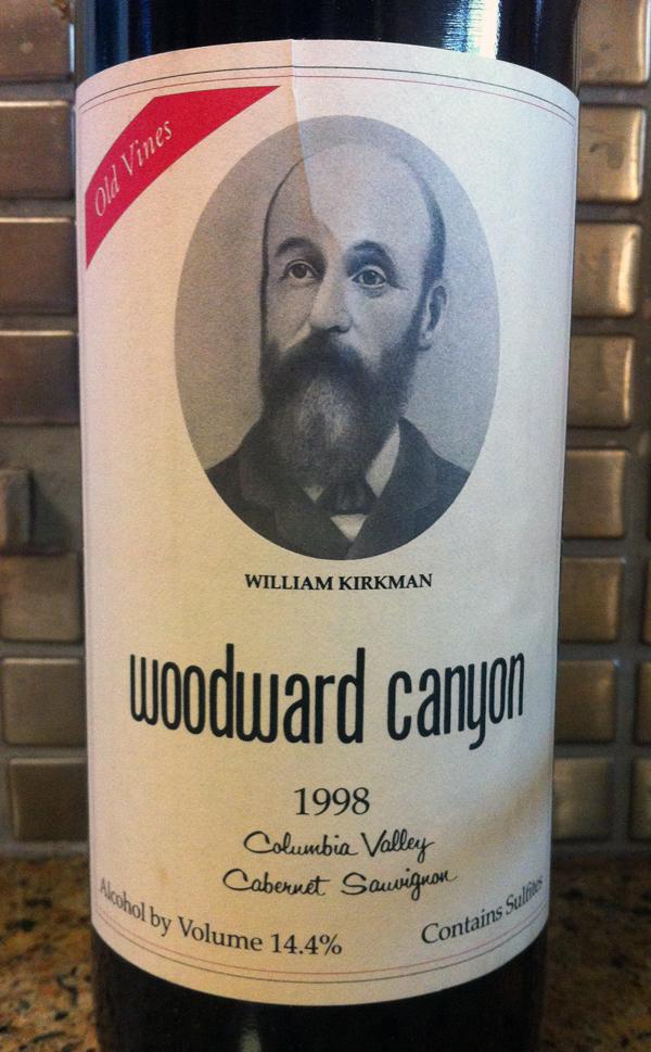 1998 Woodward Canyon Cabernet Sauvignon