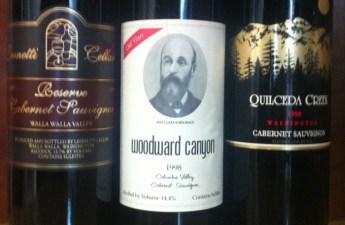 1998 Leonetti, Woodward Canyon, Quilceda Creek Cabernet Sauvignon