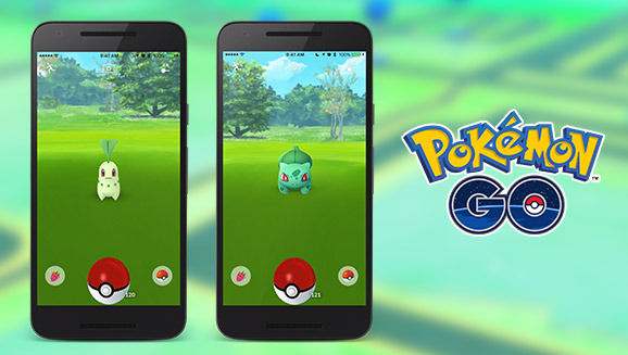 chikorita_and_bulbasaur_pokemon_go_screenshots