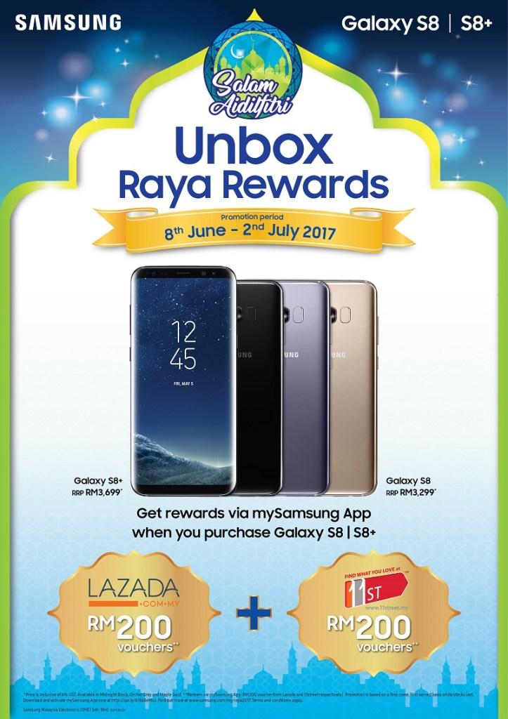 EN_Raya Bergaya_Unbox Raya Rewards with Galaxy S8