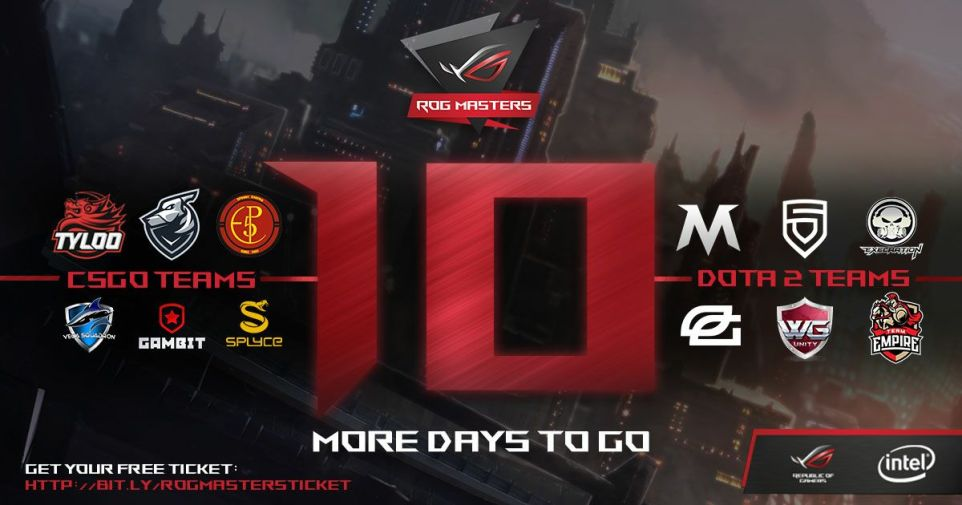 ROG Masters 10 more days to go