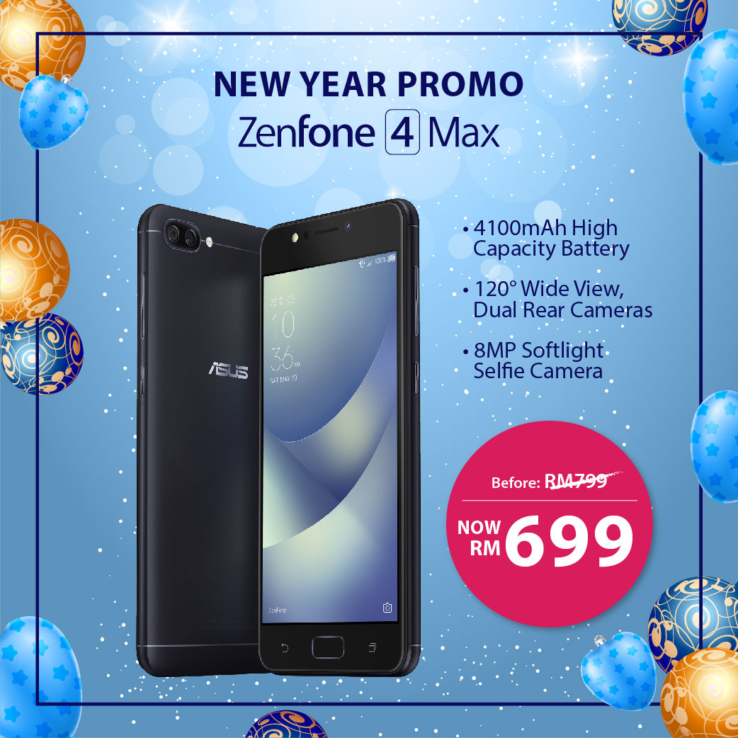 ZenFone 4 Max (ZC520KL) - New Year Promo