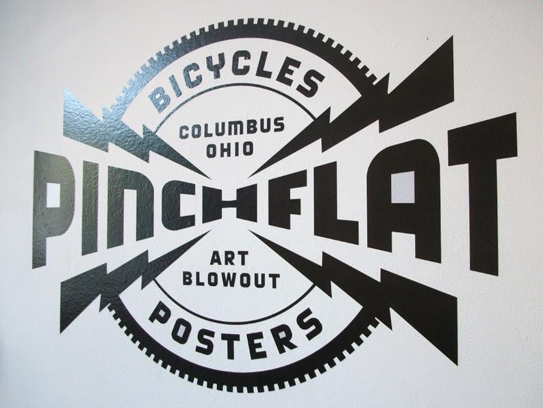 Pinchflat Poster show 2014, Columbus Ohio