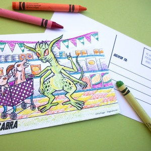 zinggia-monster-coloring-postcards-shop