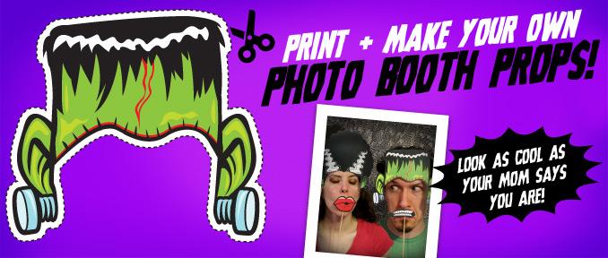 Halloween Photo Booth Props… Mwa Ha Ha Ha!