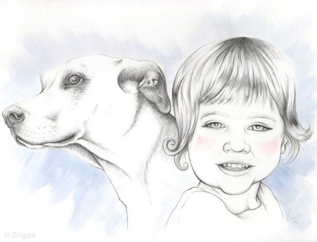 dog & kid portrait