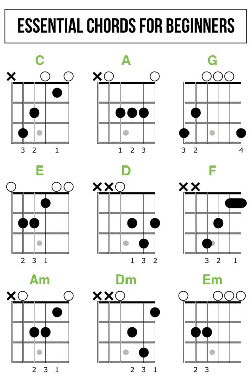 small resolution of essential open chords for beginners