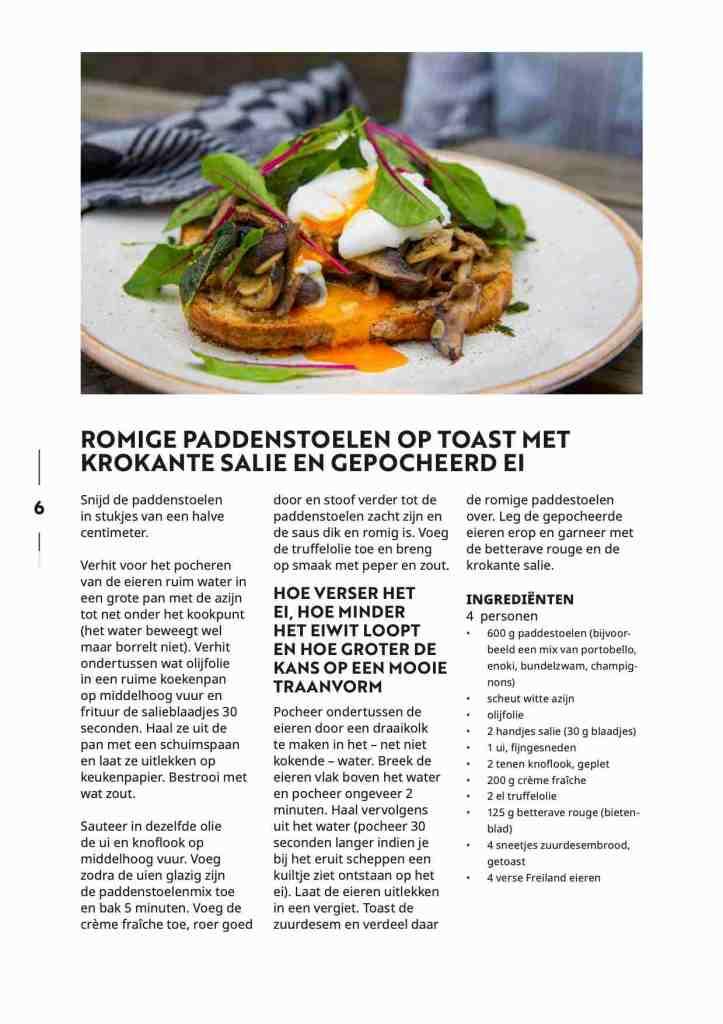 Lindenhoff Dignita paddenstoelen toast recept Famke & Floor van Praag