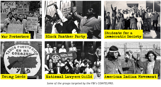 Targeted groups of COINTELPRO | Zinn Education Project: Teaching People's History