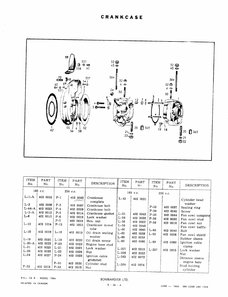 Snowmobile Ski Doo BRP ALL MODELS (1960-1965 year). Manual