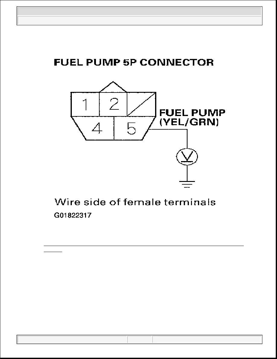 medium resolution of 11 measuring voltage between fuel pump 5p connector terminal no 5 body