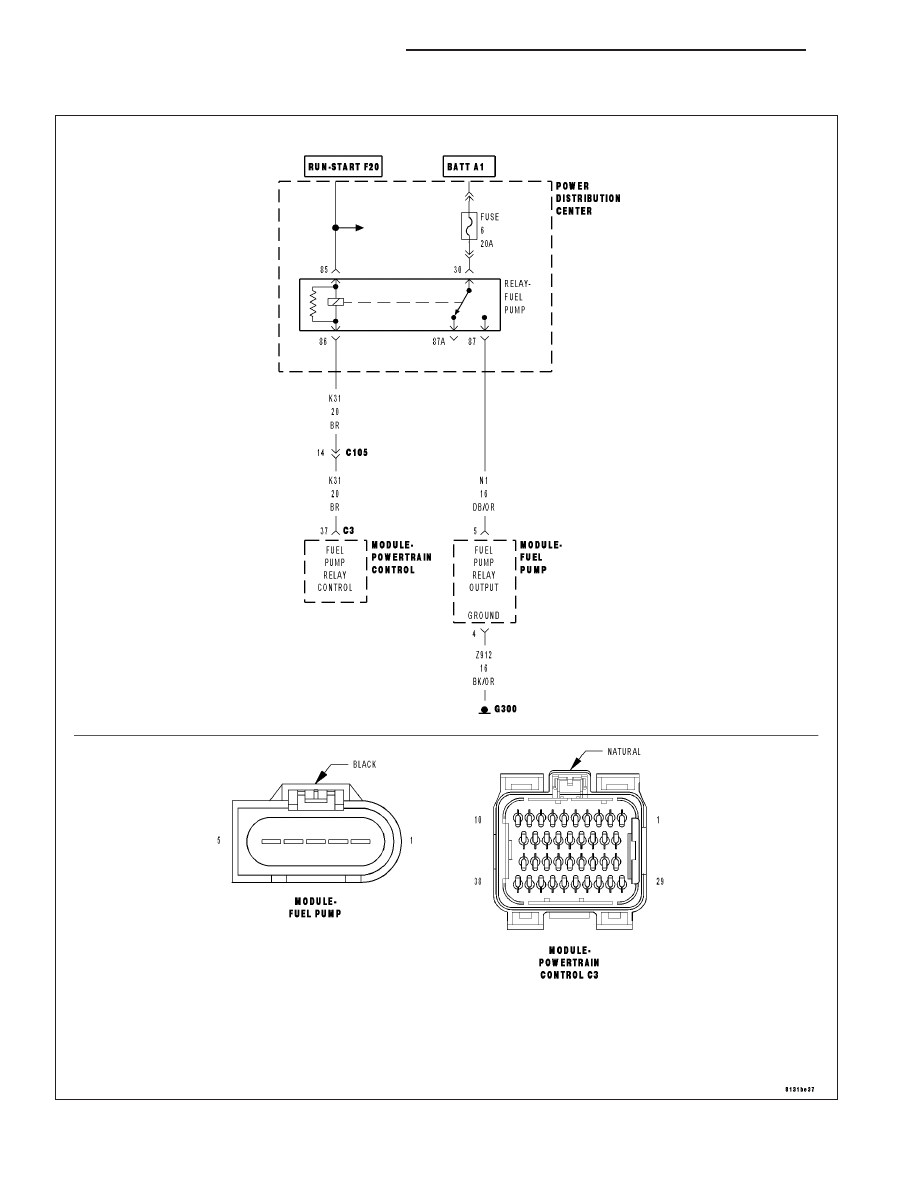 P0627 fuel pump relay circuit