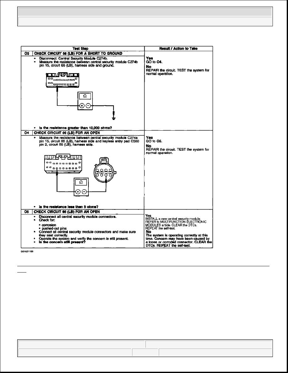 hight resolution of 61 pinpoint test o keyless entry keypad illumination is inoperative using 6 wire keypad o3 o5 courtesy of ford motor co