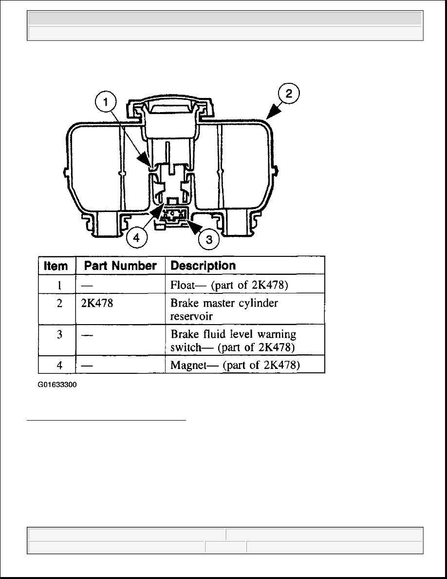 hight resolution of 4 warning switch brake fluid level courtesy of ford motor co