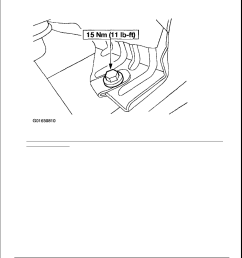 23 removing heat shield to transmission support crossmember nuts 4x4 vehicles with 4r100 transmission courtesy of ford motor co  [ 918 x 1188 Pixel ]