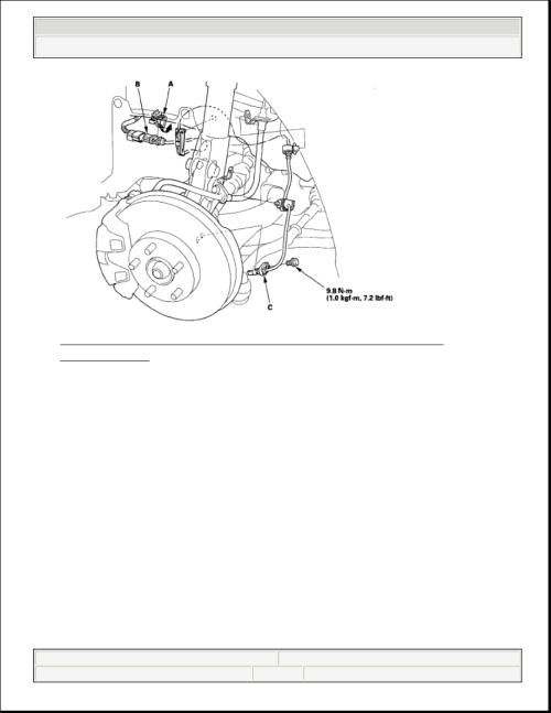small resolution of 2006 honda civic front wheel hub diagram