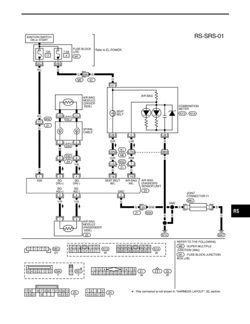 small resolution of infiniti air bag schematic diagram