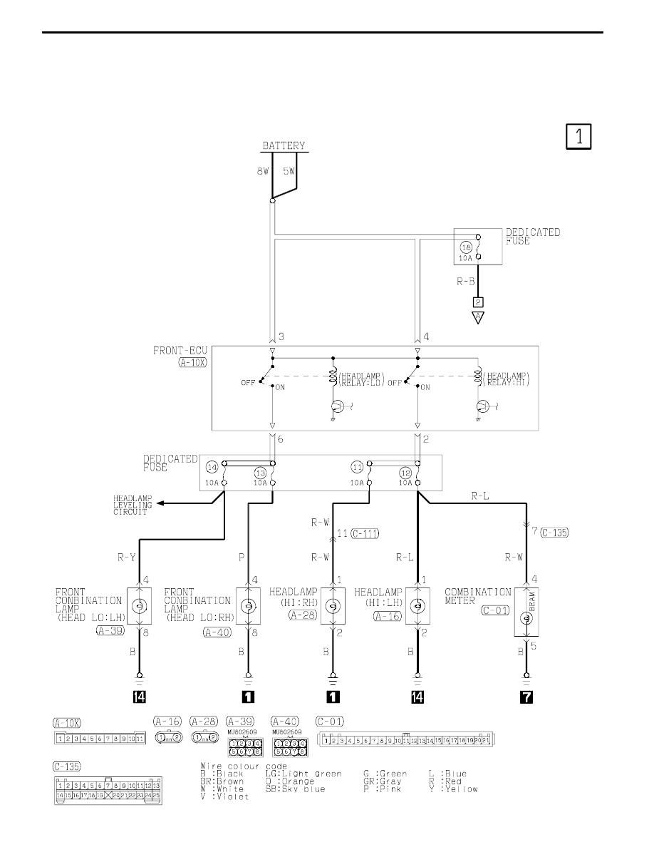 medium resolution of mitsubishi lancer 93 wiring diagram