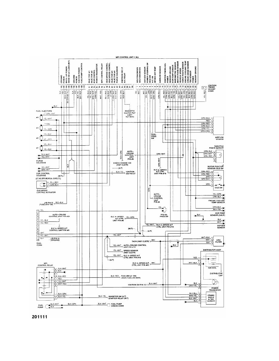 medium resolution of 1991 mitsubishi montero wiring diagram