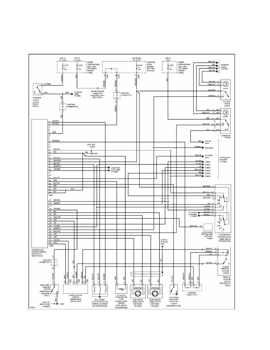 hight resolution of 18 transmission wiring diagram 1997 98 montero sport