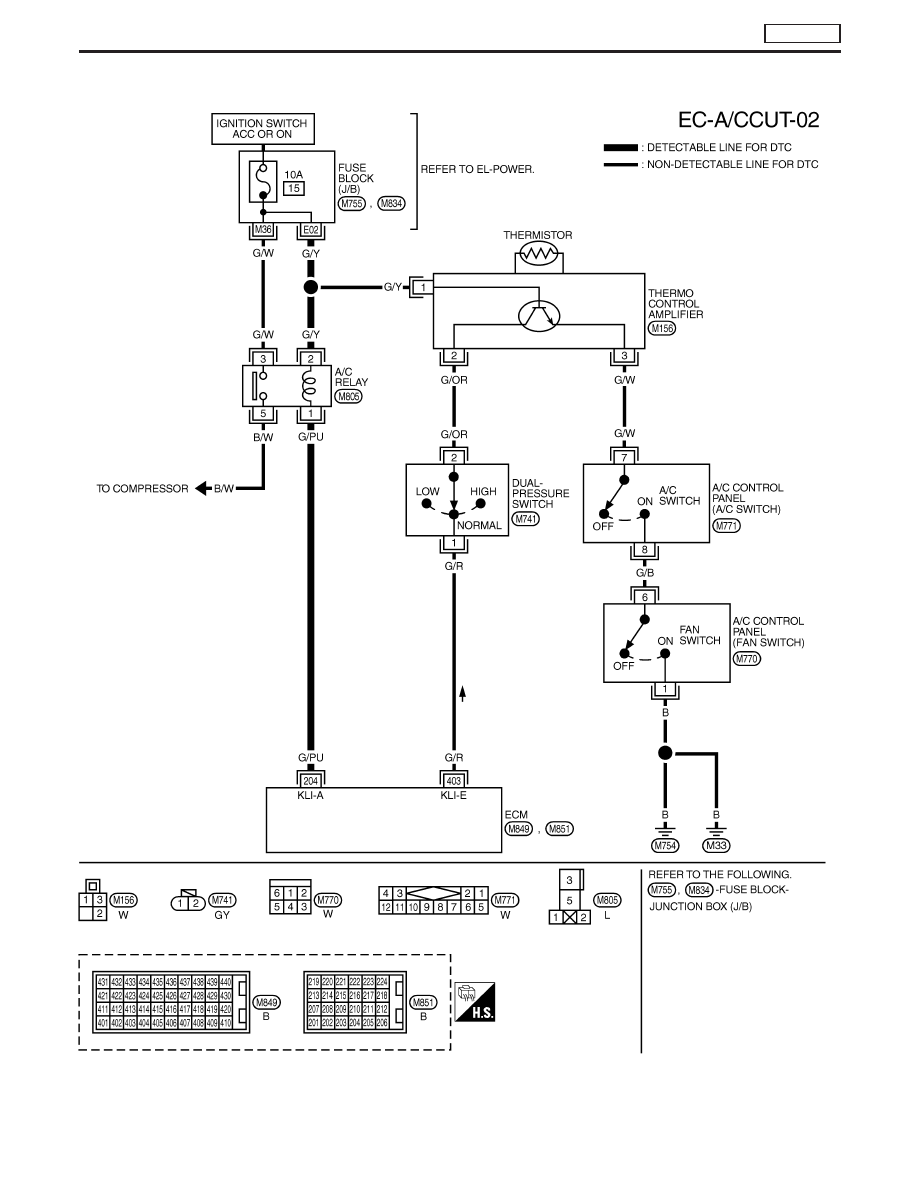hight resolution of air conditioning compressor signal and els circuit diagram schema air conditioning compressor signal and els circuit diagram