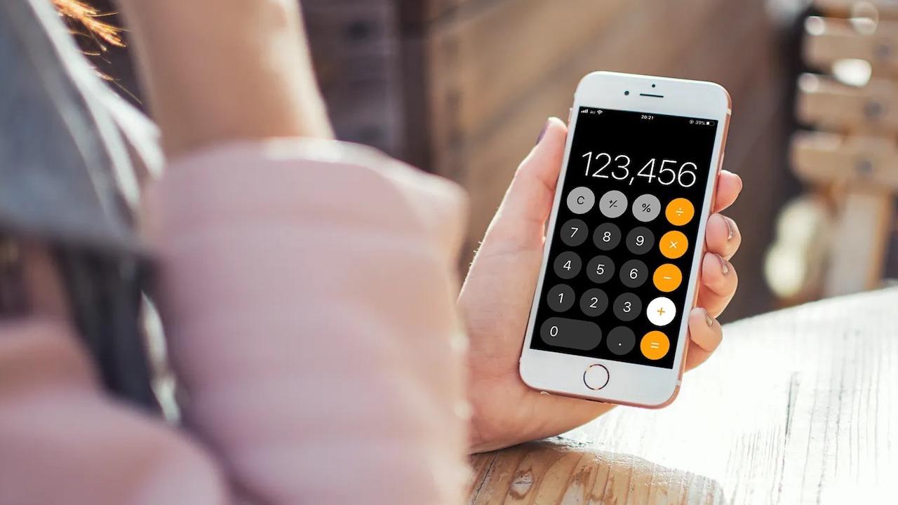 iPhoneの電卓はパーセントのまま四則演算ができる。