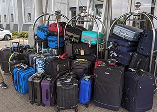 38 suitcases