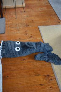 Crochet Mermaid Tail gone Shark
