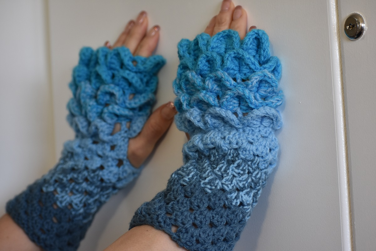 Dragon Scale Gloves Crochet Zion Family Homestead