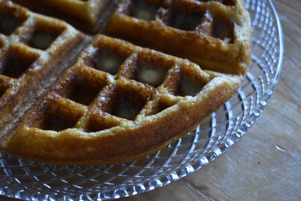 whole wheat waffles - buttery