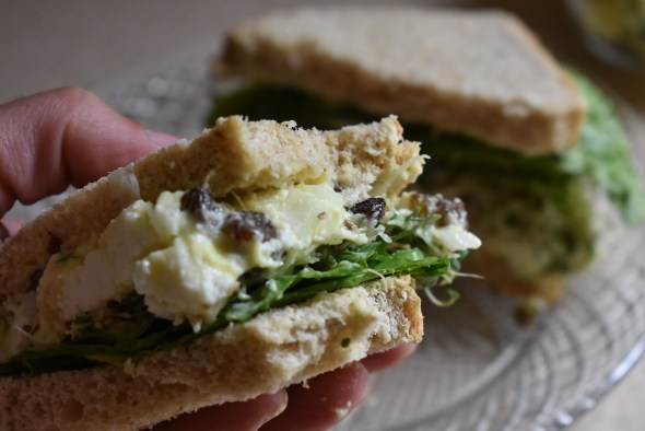 Vegetarian Chicken Salad Sandwich – Using Panir Cheese