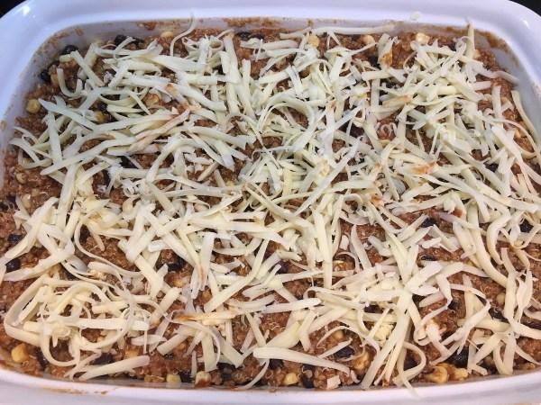 Quinoa Enchilada Casserole - cheese
