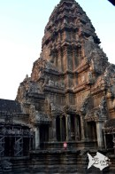 Middle tower of Angkor Wat temple is located on upper most level of the main building.