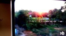 Sunrise from the Bangkok - Nong Khai sleeper train. The BEST train experience ever!