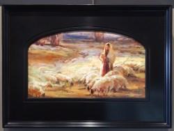 """King of Love My Shepherd"" by Julie Rogers 14×24 artist-enhanced framed canvas $750"