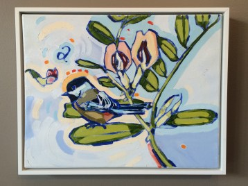 """Original """"Behold the Fowls of the Air"""" by Linda Etherington: 14×18 framed ORIGINAL $1050"""