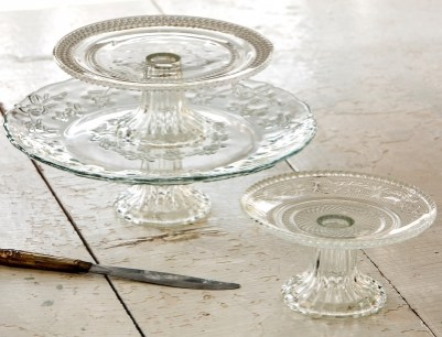 Glass Cake Stands Small $12.50; Medium $16; Large 22.50
