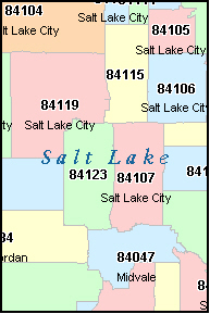 Salt Lake City Zip Code Map : Maping, Resources