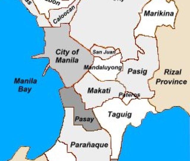 Map Of Metro Manila Philippines
