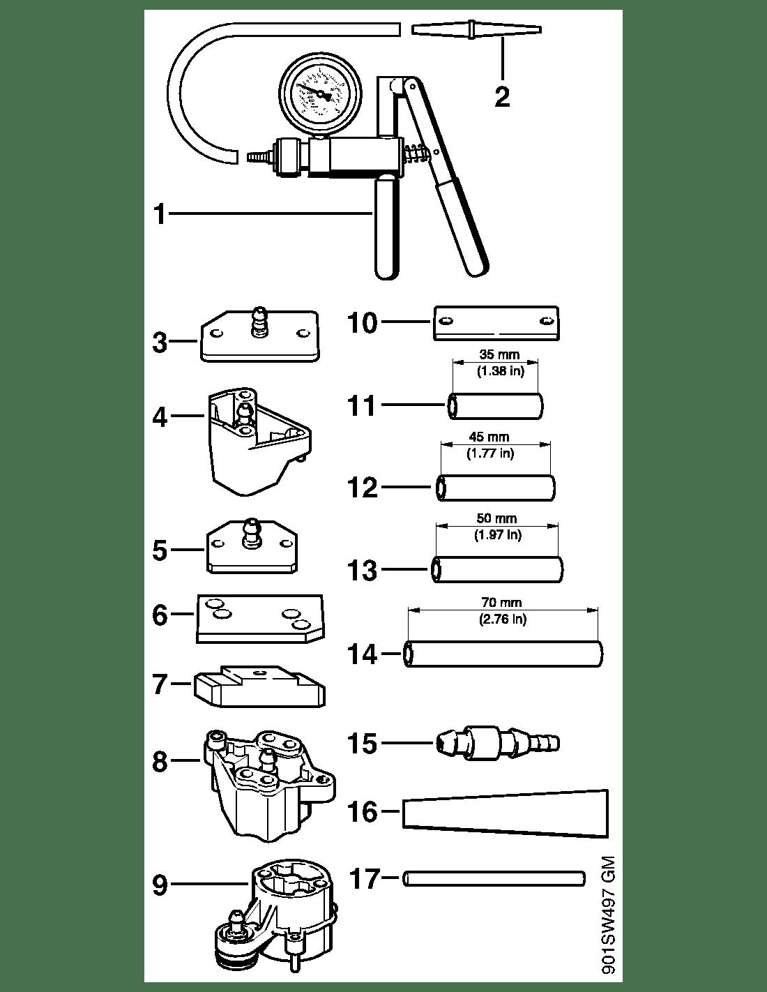 Stihl MS 290 MS 310 MS 430 Набор инструментов для проверки