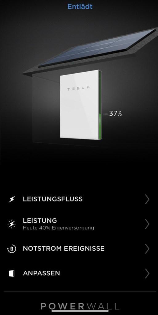 Tesla PowerWall 2 Batteriestatus