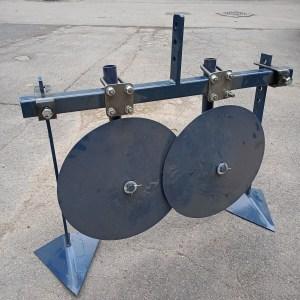 Окучник-пропольник ЭКО дисковый, регулируемый, на траверсе для мотоблока