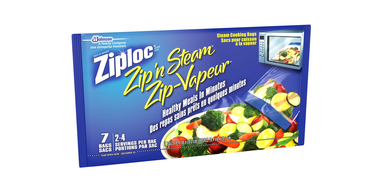 ziploc zip n steam cooking bags