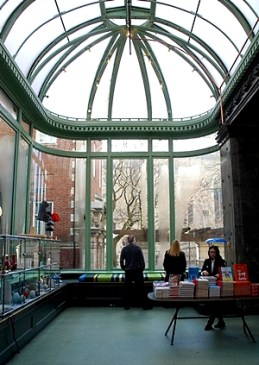 Gift shop in the conservatory at the Cooper-Hewitt Smithsonian Design Museum in NYC