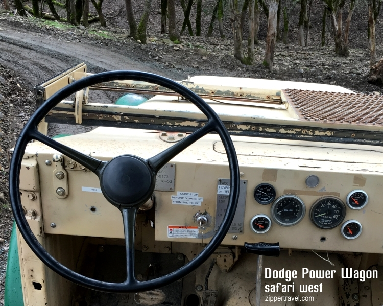 Driver's seat 1953 Dodge Power Wagon Safari West