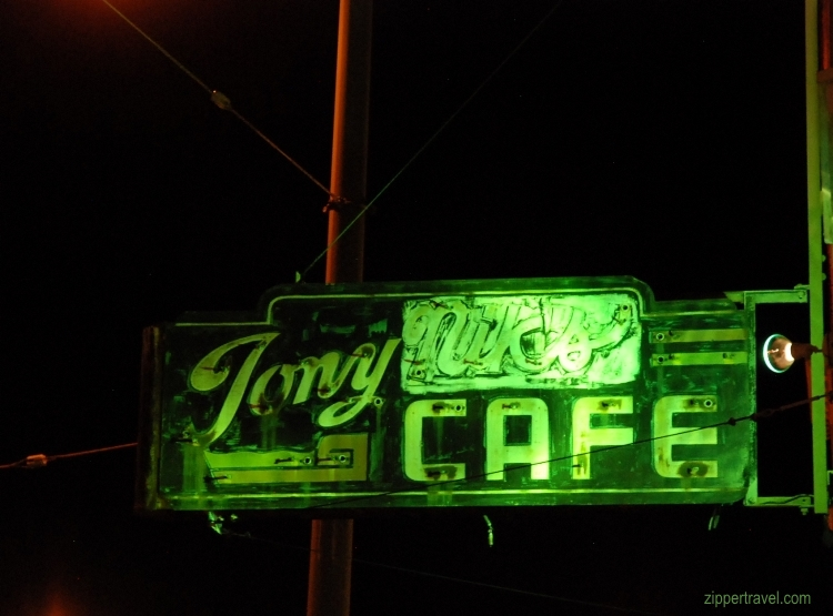 Tony Nick Cafe sign night north beach san francisco