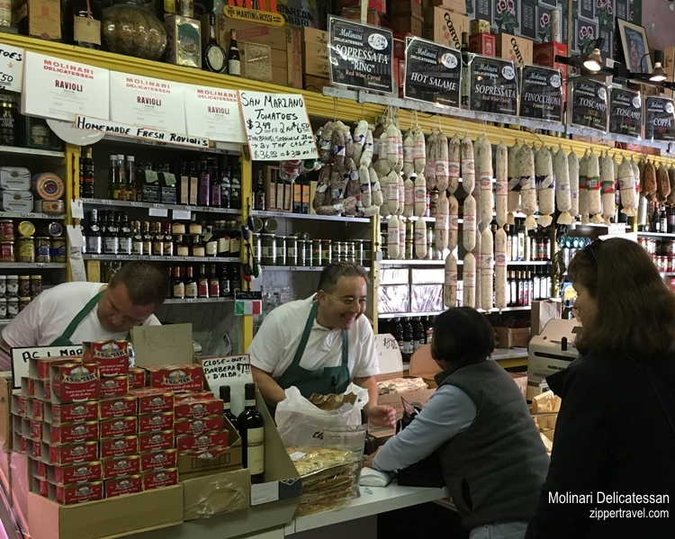molinari delicatessen interior north beach san francisco california