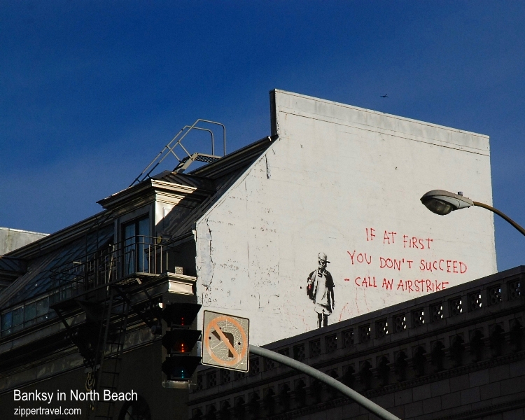 Banksy mural North Beach San Francisco