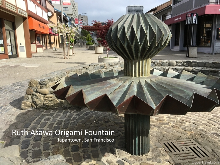 Ruth Asawa Origami Fountain Japantown San Francisco